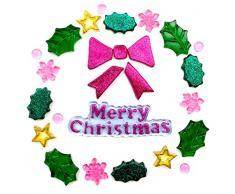 Outlook Design Gel Gems Natalizio Sacchetto Small Decorazioni Ghirlanda Merry Xmas, Polimero Morbido Totalmente atossico, 20x20x1 cm