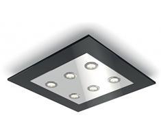 Philips 409273016, plafoniera a LED integrato, luce bianca calda, regolabile, con 6 lampadine da 4 5 W.