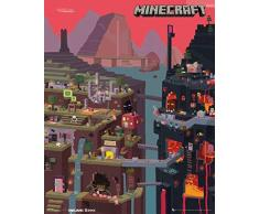 GB Eye-Stampa con Cornice 40 x 50 cm, World-Mini Poster Minecraft