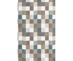 Kleine Wolke 5270271305 Check Tenda da Doccia, 180 x 200 cm, Colore Tortora