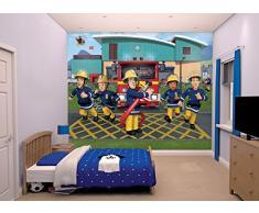 Walltastic Sam Il Pompiere Carta da Parati Murale, Multicolore, 52.5x7x18 cm