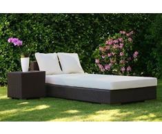Fodera in ecopelle per imbottitura cuscino per sedia a sdraio, altezza 7 cm, 60 x 190 cm