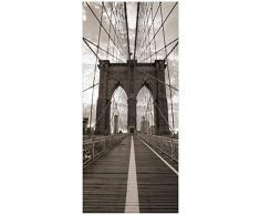Posterdepot ktt0280 - Poster decorativo per porta, motivo: il ponte di Brooklyn, dimensioni: 93 x 205 cm