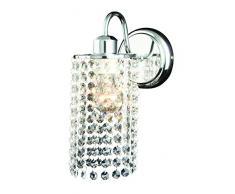Light Prestige Bright Star Lampade a candela da parete, Vetro, E27, 60Â W, Trasparente, 17Â x 20Â x 25.6Â cm