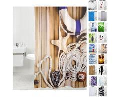 Tenda da doccia, doccia tende a scelta molte belle, di alta qualità , Tessuto, Maritime, 180 x 200 cm