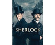 "Sherlock Maxi Poster "" The Abominable Bride"" (lingua italiana non garantita), in legno"