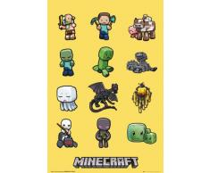 Grupo Erik FP3288 Poster Minecraft Characters, carta, Multicolore, 91 x 61,5 x 0,1 cm