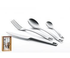 Esmeyer Tanja - Set da 16 posate TANJA 18/0 lucido, in un pratico portaposate Dimensioni (LxPxA): 18,5 x 8,5 x 29,5 cm