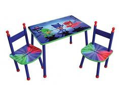 FUN HOUSE pyjamasques Tavolo con 2 sedie per Bambini, MDF/Metallo, 60 x 40 x 44 cm
