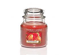 Yankee Candle 1188033E Spiced Orange Candele in Giara Piccola, Vetro, Arancione, 6.3X6X7.1 Cm