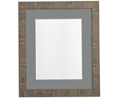 PER POSTA CORNICI 45 x 30 cm di profondità e le istruzioni per la foto vena frame con scuro supporto mobile grigio 14 x 20,32 centimetri per le foto, marrone