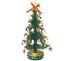 Spieluhrenwelt 16116 - Carillon ad Albero di Natale, in Legno, 380 mm, Colore: Verde