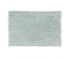 InterDesign Frizz Tappetino Bagno, Morbido, Antisdrucciolevole, Tessuto, Verde, 51x76x0.25 cm