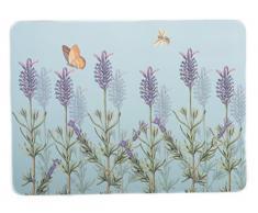 Creative Tops - Tovagliette allAmericana con Dorso in Sughero, Serie Kew Gardens, Motivo: Lavanda, Colore: Argento