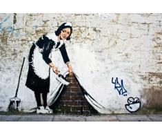 Empire Poster Graffiti Banksy, Cleaning Maid, con accessori