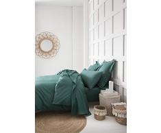 TODAY Lenzuolo con Angoli, in Cotone, 190 x 140 cm, Colore: Verde Smeraldo, 140x190