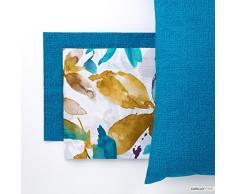 Linea Oro Yuma Set di lenzuola completo, Cotone, blu, King, 180Â x 190Â x 200Â cm