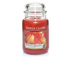 Yankee Candle candela profumata in giara grande, Arancia speziata, durata: fino a 150 ore, fragranze naturali
