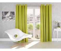 Splendid Silk - Tenda con Occhielli, 140 x 245 cm, Colore: Limone