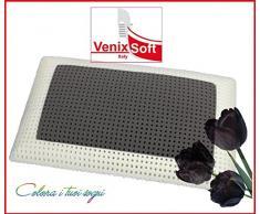 venixsoft RD-LU88-Y2GB Cuscino Guanciale Memory Foam Termosensibile Saponetta con Microfori per Una Massima Traspirazione 72 cm x 42 cm x 13,8 cm