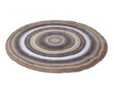 Meusch Mandala 2253271518 - Tappetino rotondo per bagno, ⌀ 80 cm, colore: Talpa