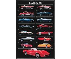 Empire - Poster di auto Corvette con accessori