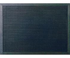 ID Opaco m51_l Gommini Light-Tappeto Zerbino Gomma, Colore: Nero, 100% caucciù, Nero, 90 x 180 cm