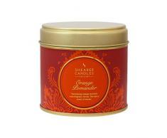 Shearer Candles SC0603 - Candela stile vittoriano al profumo darancia e cannella, in recipiente di latta, colore: Arancione