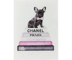 Kare 63998 Fashion Dog - Quadro in vetro, 80 x 60 cm, taglia unica, colore: Rosa