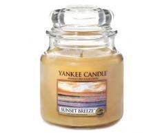 Yankee Candle 1352165E Sunset Breeze Candele in Giara Media, Vetro, Arancione, 10X9.8X10.1 Cm