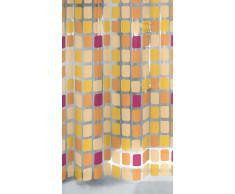 Kleine Wolke 4956580305 - Tenda per Doccia, Modello Sonny, 200 x 180 x 0,09 cm, Colore: Arancione