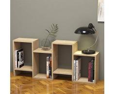 Homemania Libreria Hydra Scaffale, Mobile - con Ripiani - da Salotto, Ufficio, Studio - Rovere in Legno, 116,4 x 22 x 53,5 cm