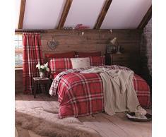 Catherine Lansfield Kelso Set di biancheria da letto a quadri con copripiumino