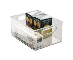 InterDesign Cabinet/Kitchen Binz Contenitore cucina, Grande organizer cucina in plastica, trasparente