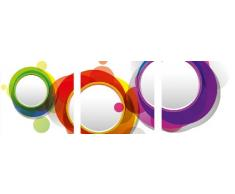Eurographics, Adesivi murali decorativi, motivo: cerchi colorati, Multicolore (Mehrfarbig)