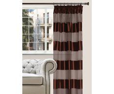 Splendid Collezione FLORENCE - Tenda con nastro, 140 x 285 cm, colore cioccolato
