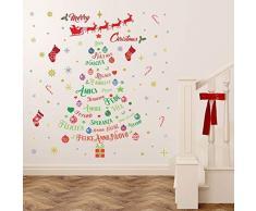 Wallflexi Italian Citazioni di Natale Decorazioni da Parete Adesivi Home Office Decorations, Multicolore
