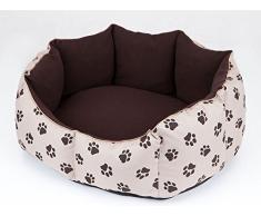 Hobbydog L NYRBLA6 Cuccia per Cani, Taglia L, 6555 x 55 cm, in Coduro Resistente, Copertura Rimovibile, Prodotto Europeo, L, Beige, 1,4 kg