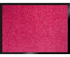 ID Opaco 608009 Mirande Tappeto Zerbino in Fibra di Nylon e PVC, con Elementi in Gomma, Colore: Rosa Fucsia, 80 x 60 x 0,9 cm