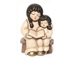 THUN - Coppia di Bimbi che Leggono - Statuine Presepe del Giubileo - Ceramica - I Classici