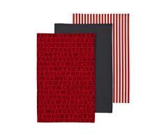 Premier Housewares 5100135 Set da 3 Strofinacci Carnival, 100% Cotone