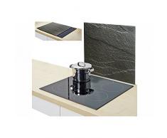 Zeller Present 26289 ardesia, pannello coperchio da cucina, in vetro, colore: antracite