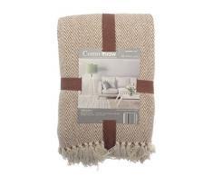 como throw, panno, 228 x 254 cm, per divano, sedia e letto, decorativo, marrone beige, elegante