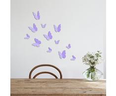 WALPLUS ADESIVI da parete LAVANDA 3D Farfalle rimovibile autoadesivo arte murale decalcomania vinile DECORAZIONE CASA fai-da-te VIVENTE ufficio camera letto carta parati cameretta bimbi regalo