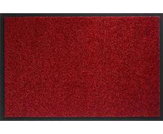 ID MAT 608005 Mirande - Tappeto zerbino in Fibre Nylon e PVC, gommato 80Â x 60Â x 0,9Â cm, Rosso, 60 x 80 cm