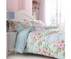 Catherine Lansfield Canterbury – Biancheria da letto Parure di lenzuola sotto e sopra con federa letto da 90 cm