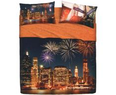 Bassetti Completo Letto, New York Party, 240X280 cm, 4 Set