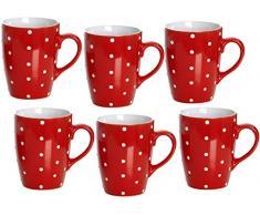 Ritzenhoff & Breker 737691 Pinto - Servizio da caffè, 6 pezzi, colore: Rosso