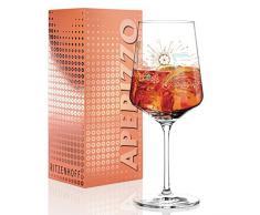 RITZENHOFF, Aperizzo, bicchiere in vetro di Natalia Yablunovska, 600 ml, con elementi dorati