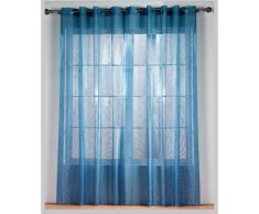 RIOMA Alejandra - Tenda con Occhielli, 140 x 270 cm 270x140x1 cm Blu